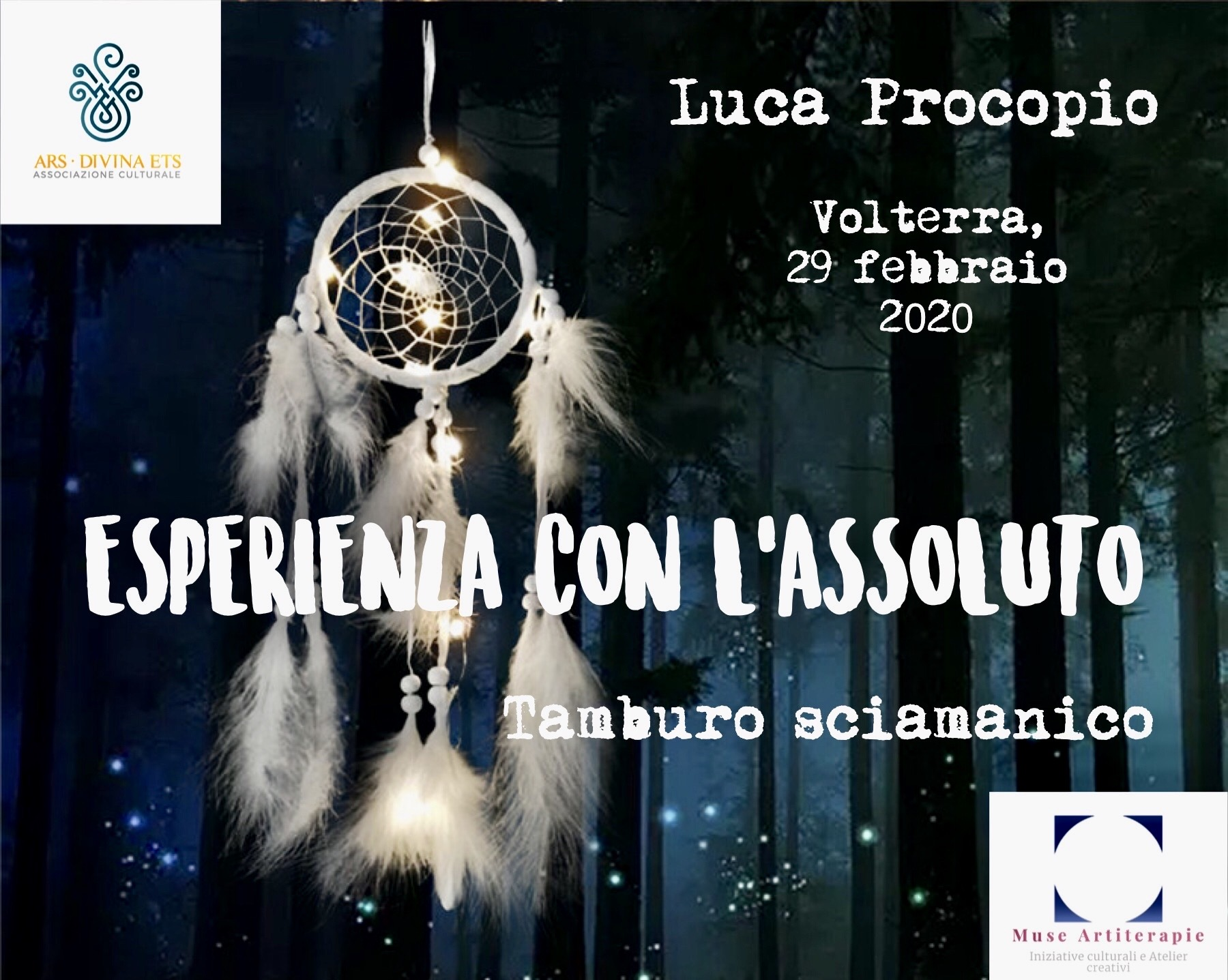 Luca Procopio: esperienza con l'assoluto al suono del tamburo sciamanico